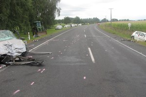 The scene of the crash. Photo / Supplied