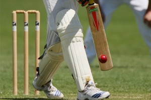 Napier Old Boys' Marist lost four wickets in two balls after one batsman was stumped off a wide while another was timed out. Photo / Hawkes Bay Roday
