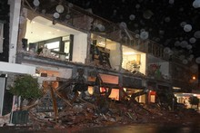 Damaged shops in the centre of Christchurch after the earthquake. Photo / NZPA