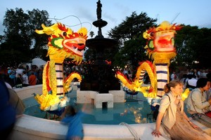 Dragons at this year's Lantern Festival. Photo / Natalie Slade