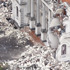 A Catholic Cathedral is seen damaged. Photo / Getty Images
