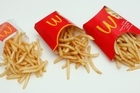 McDonald's fast food restaurant French Fries,small, medium and large servings. Photo / Brett Phibbs