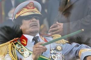 MARKED MAN: Colonel Muammar Gaddafi. Photo / AP