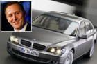 Prime Minister John Key (inset) and the BMW 7 Series. Photo / NZ Herald