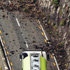 A BP truck halted by the earthquake en route to Lyttelton. Photo / Getty Images