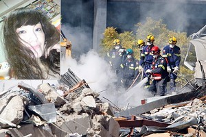 Search and rescue personnel searching the ruins of the CTV building today and, inset, Miki Hayasaka, a Japanese nurse feared among those killed when the building collapsed. Photos / Sarah Ivey, supplied