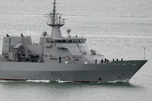 HMNZS Wellington was unable to find any trace of the missing yacht. Photo / Sarah Ivey