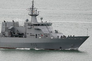 Navy patrol vessel HMNZS Wellington. Photo / Sarah Ivey