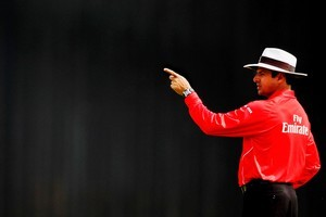 The umpire can ask for assistance from the third umpire and the available technology for any decision at any time. Photo / Getty Images