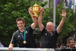 Graham Henry went from coaching future rugby greats at Auckland Grammar School to lifting the Webb Ellis Cup. Photo / Getty Images