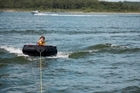 Towing an inflatable ring wit a boat can be a lot of fun, but boaties are being warned they need to know the traffic rules so they were always in 'the best place at the right time'. File photo / Thinkstock