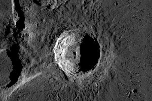 The Aristarchus crater is twice as deep as the Grand Canyon. Photo / Nasa