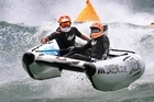 A boat racing competitor had his stomach torn open by an anchor in a freak accident at the Thundercat National Championships at Mount Maunganui yesterday. File photo