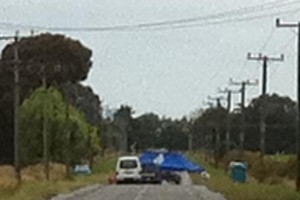 The scene at Grays Rd, near Christchurch airport, where a Tracey Lee Morris' body was found. Photo / Kurt Bayer