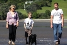 Sarah Jane and Burkhard Stein love beach walks with son Ashton and their dog, Hatchi. Photo / Sarah Ivey