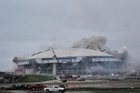 Texas Stadium, the former home of the Dallas Cowboys was imploded in April 2010. Photo / AP