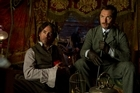 Robert Downey Jr (left) and Jude Law, are shown in a scene from 'Sherlock Holmes: A Game of Shadows.' Photo / AP