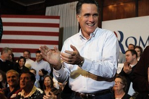 [Mitt Romney] can credibly portray himself as a safe pair of hands, the traditional Republican sales pitch to the American people. Photo / AP