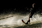 Waterskier Curtis Williams in action. Photo / Greg Bowker