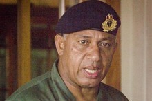 Fiji's new self-appointed President, military commander Commodore Frank Bainimarama. Photo / Greg Bowker