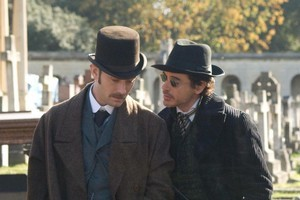 Sherlock Holmes' starts Jude Law (left) and Robert Downey jnr have a similar relationship on and off camera. Photo / Supplied