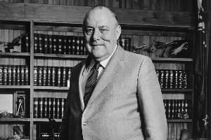 Former prime minister Robert Muldoon. Photo / APN
