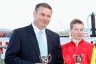 Trainer Shaune Ritchie (left) is looking forward to hearing James McDonald's opinion of King Dan today. Photo / APN