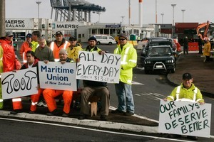 Ports of Auckland management have been accused of refusing to meet its striking workers. File photo