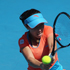 Jie Zheng of China plays a shot in her match against Ayumi Morita of Japan during day two of the 2012 ASB Classic. Photo / Getty Images