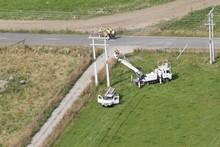 The hot air balloon accident in Carterton. Photo / APN