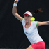 Christina McHale of USA plays a shot in her match against Alexandra Dulgheru of Romania during day one of the 2012 ASB Classic. Photo / Getty Images