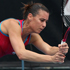 Flavia Pennetta of Italy plays a shot in her match against Sorana Cirstea of Romania during day one of the 2012 ASB Classic. Photo / Getty Images