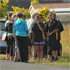 People console each other at the scene of the crash. Photo / Chris Kilford