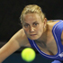 Jelena Dokic of Australia plays a shot in her match against Mona Barthel of Germany during day one of the 2012 ASB Classic. Photo / Getty Images