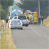 Emergency services at the scene of the accident. Photo / Chris Kilford