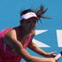 Shuai Peng of China plays a shot in her match against Aravane Rezai of France during day two of the 2012 ASB Classic. Photo / Getty Images