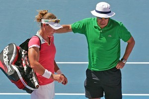 Sam Stosur and David Taylor. Photo / Getty Images