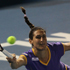 Virginie Razzano of France plays a shot in her match against Sabine Lisicki of Germany during day one of the 2012 ASB Classic. Photo / Getty Images