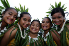 Angel Togiamua, Andeelina Vaimaou, Gemma Miti, Zena Poimafiti and Hayley Patutaue all set to perform on Pasifika's opening night. Photo / Sarah Ivey