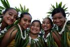 Angel Togiamua, Andeelina Vaimaou, Gemma Miti, Zena Poimafiti and Hayley Patutaue all set to perform on Pasifika's opening night. Photo / Sarah Ivey