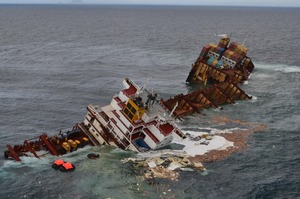 A report from the Transport Accident Investigation Commission has laid out the events leading to its grounding on the Astrolabe reef. Photo / NZ Herald