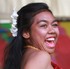 A performer on the Cook Island stage at Pasifika Festival. Photo / Doug Sherring