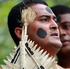Performers are seen on The Fiji Stage at Pasifika Festival. Photo / Doug Sherring