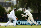 Ross Taylor steers a ball past Hashim Amla. Photo / Getty Images