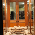 A shopfront is seen sandbagged in Wagga Wagga. Photo / AAP