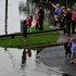 Members of the public take photographs of a swollen Nepean River in the Sydney suburb of Penrith. Photo / AAP