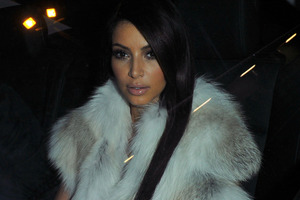 Kim Kardashian arrives alone to a Fashion Show in Paris, post-break-up with NBA star Kris Humphries. Photo / AP