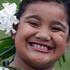 8-year-old Gemma Miti all set to perform at Pasifika's opening night. Photo / Sarah Ivey