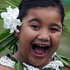 8-year-old Gemma Miti all set to perform at Pasifika's opening night. Photo / Sarah Ivey