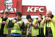 KFC's Double Down was in big demand but at the expense of other, higher-margin Restaurant Brands products. Photo / APN